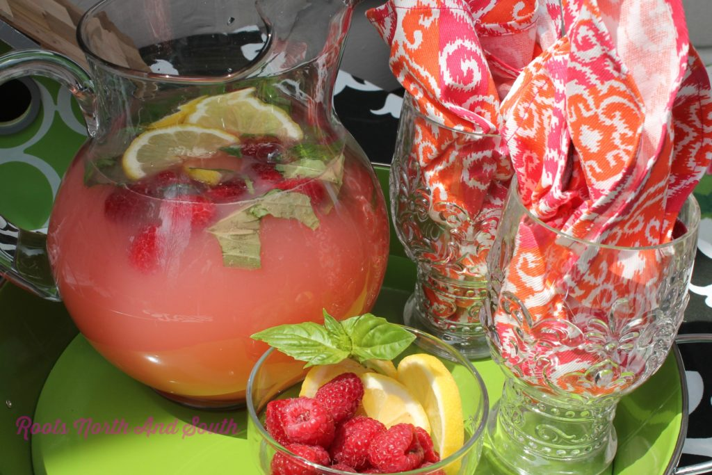 Raspberry Basil Lemonade WM